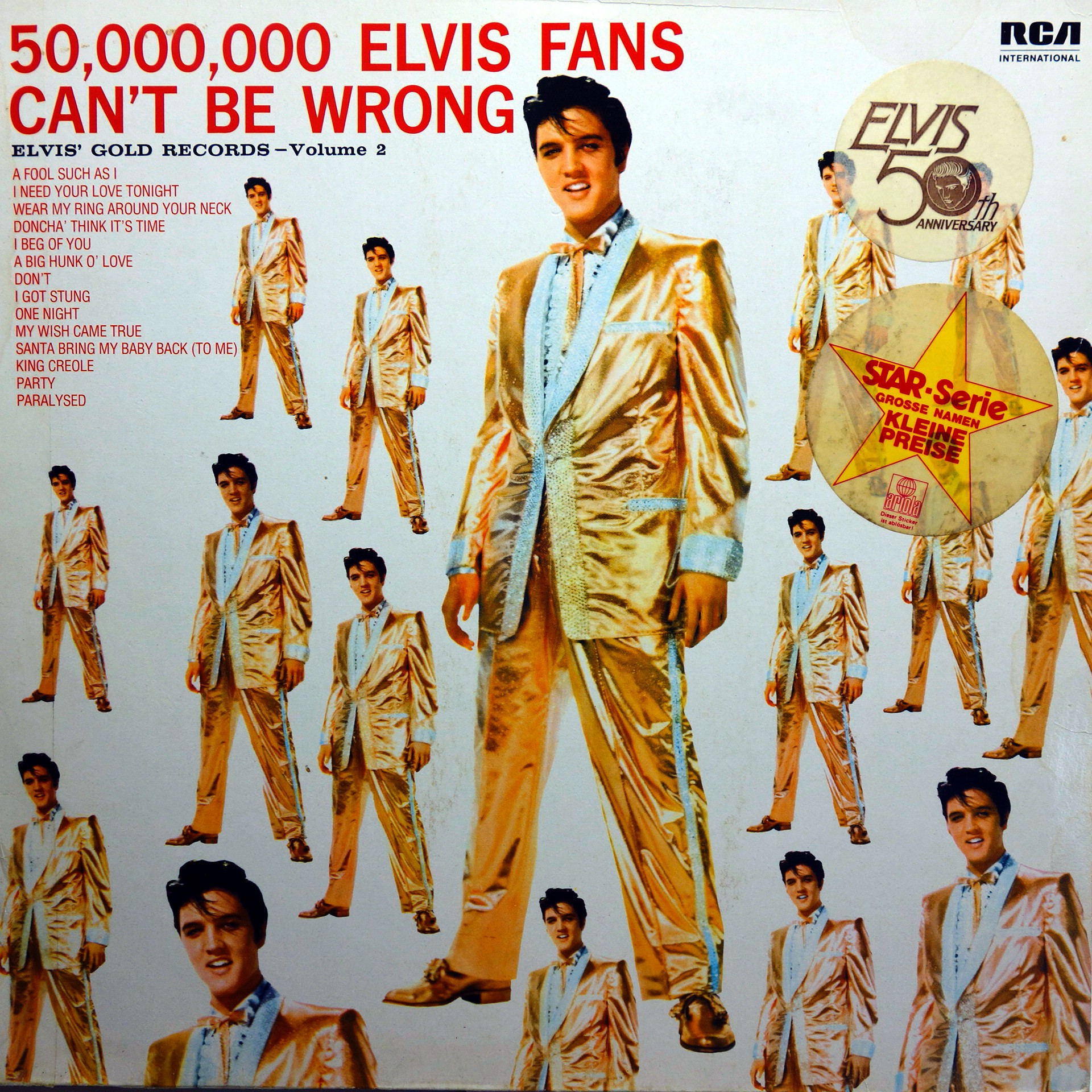 LP Elvis Presley ‎– 50,000,000 Elvis Fans Can't Be Wrong, Vol. 2