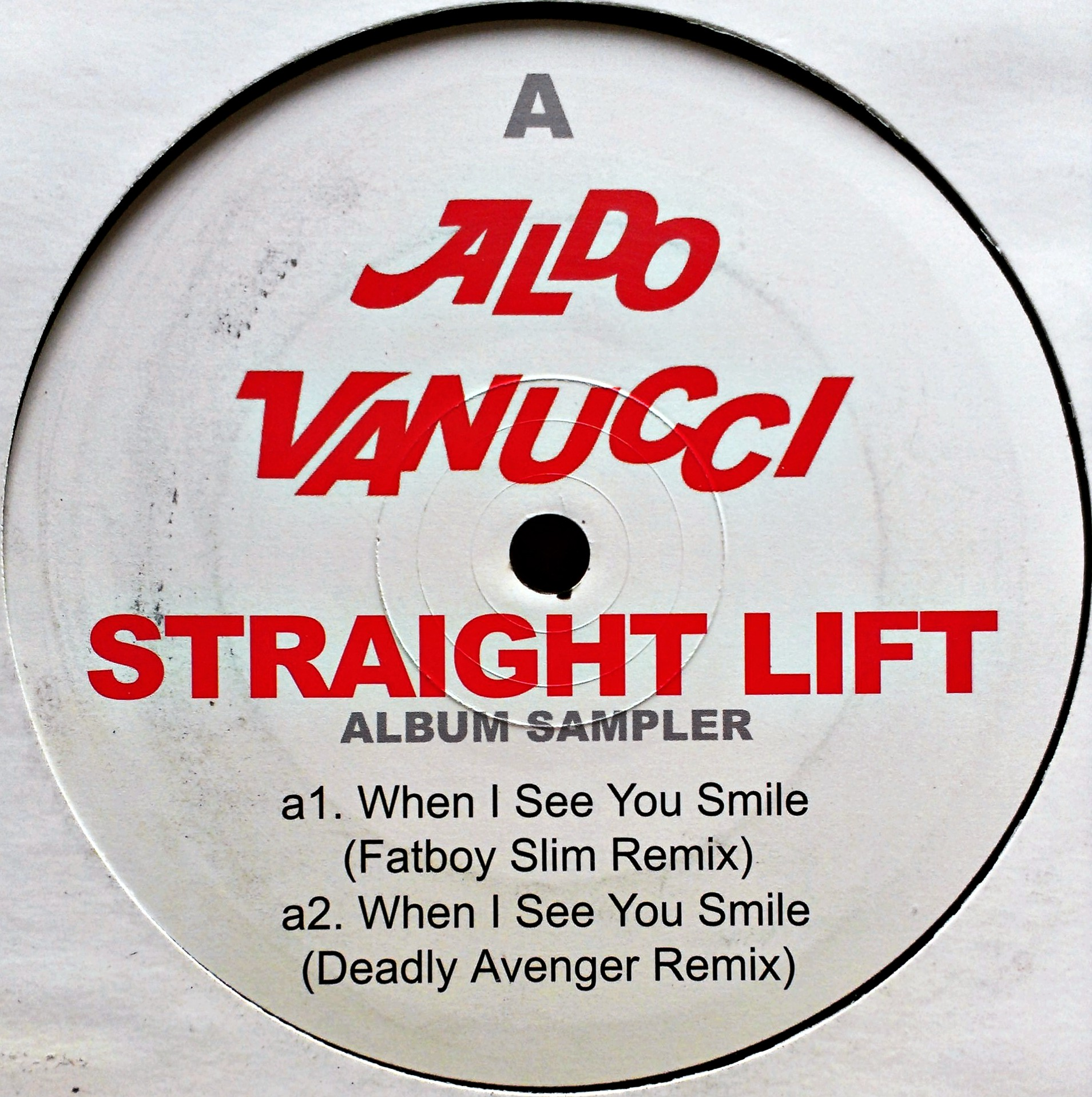 "12"" Aldo Vanucci - Straight Lift Album Sampler"