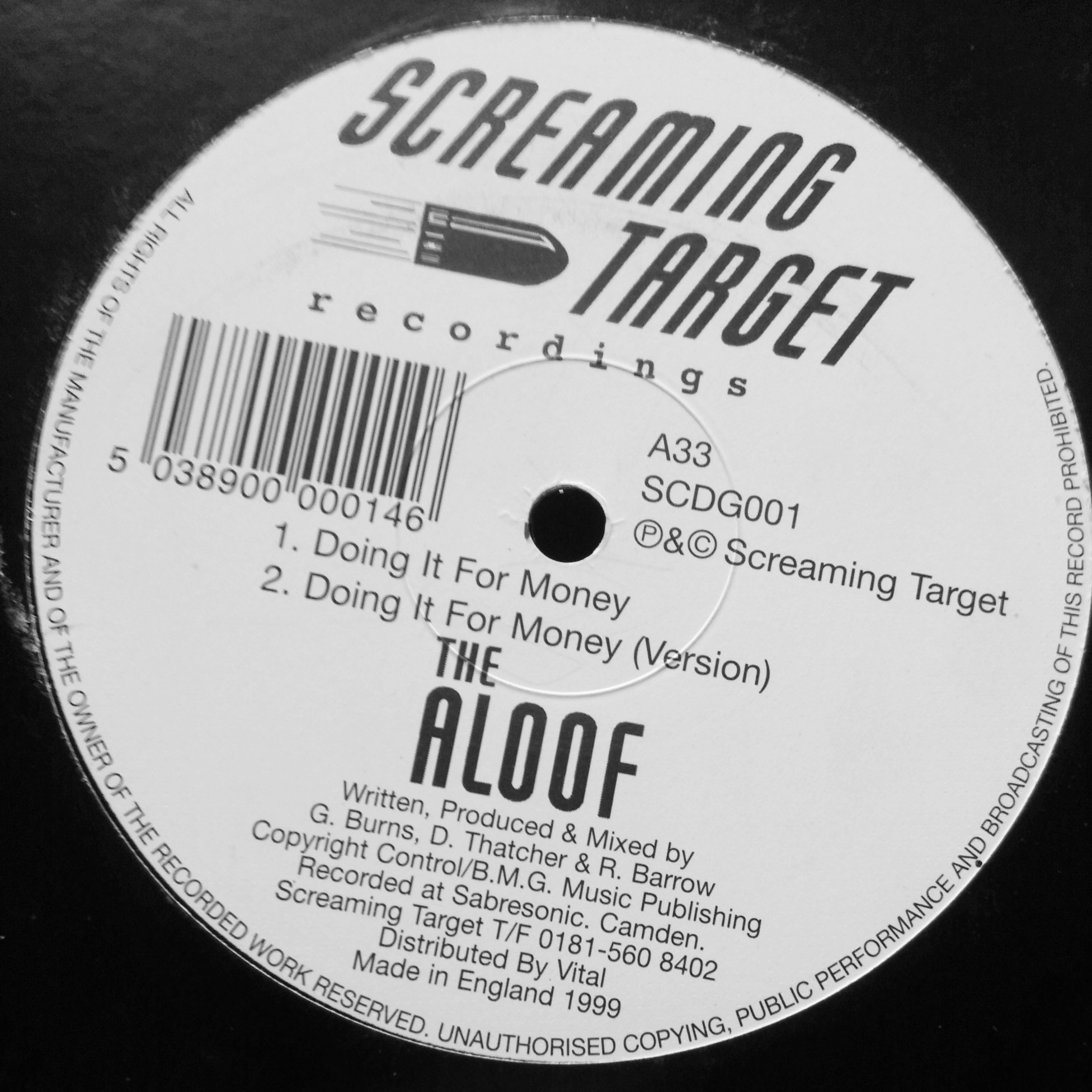 "12"" Aloof - Doing It For The Money"