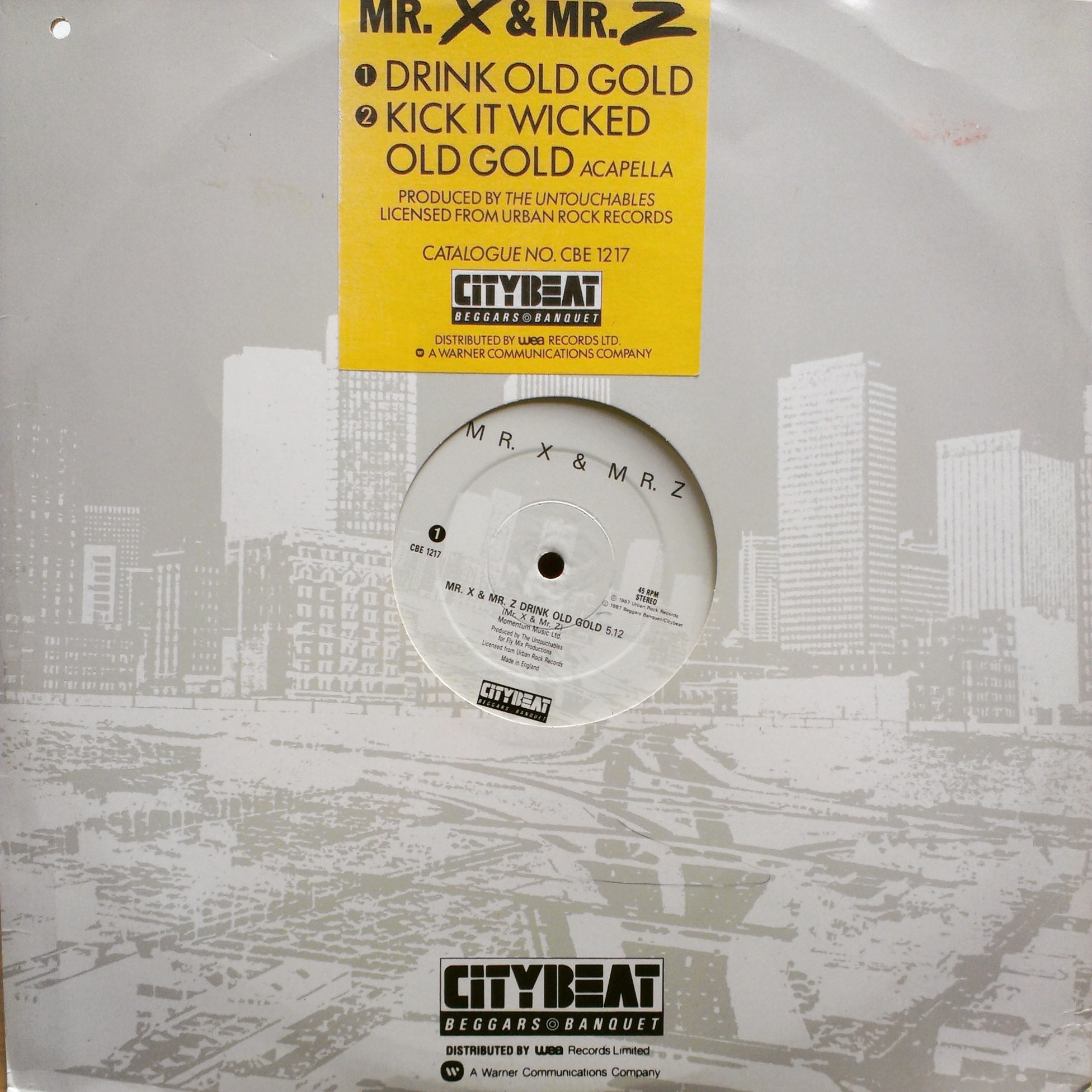 "12"" Mr. X & Mr. Z - Mr. X & Mr. Z Drink Old Gold"