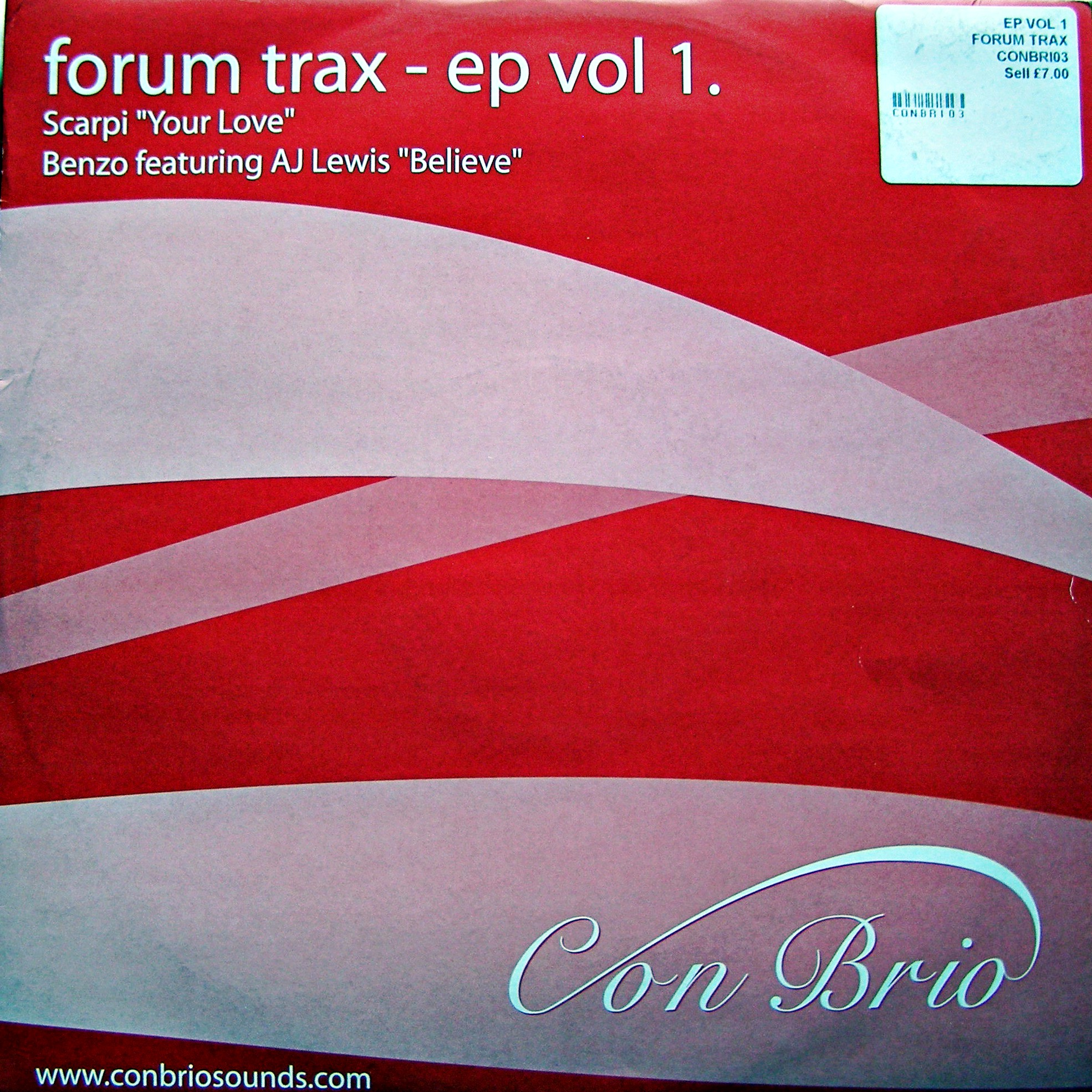 "12"" Various ‎– Forum Trax - EP Vol 1."