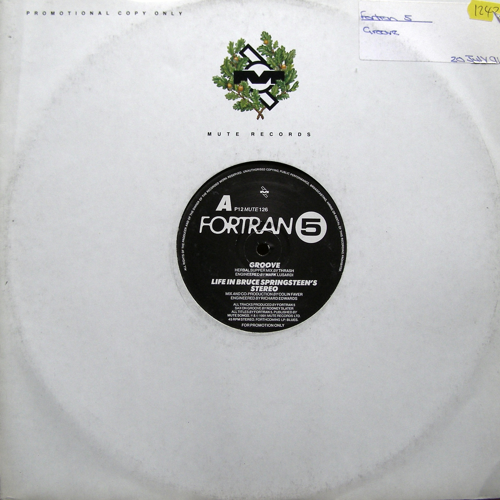 "12"" Fortran 5 ‎– Groove"