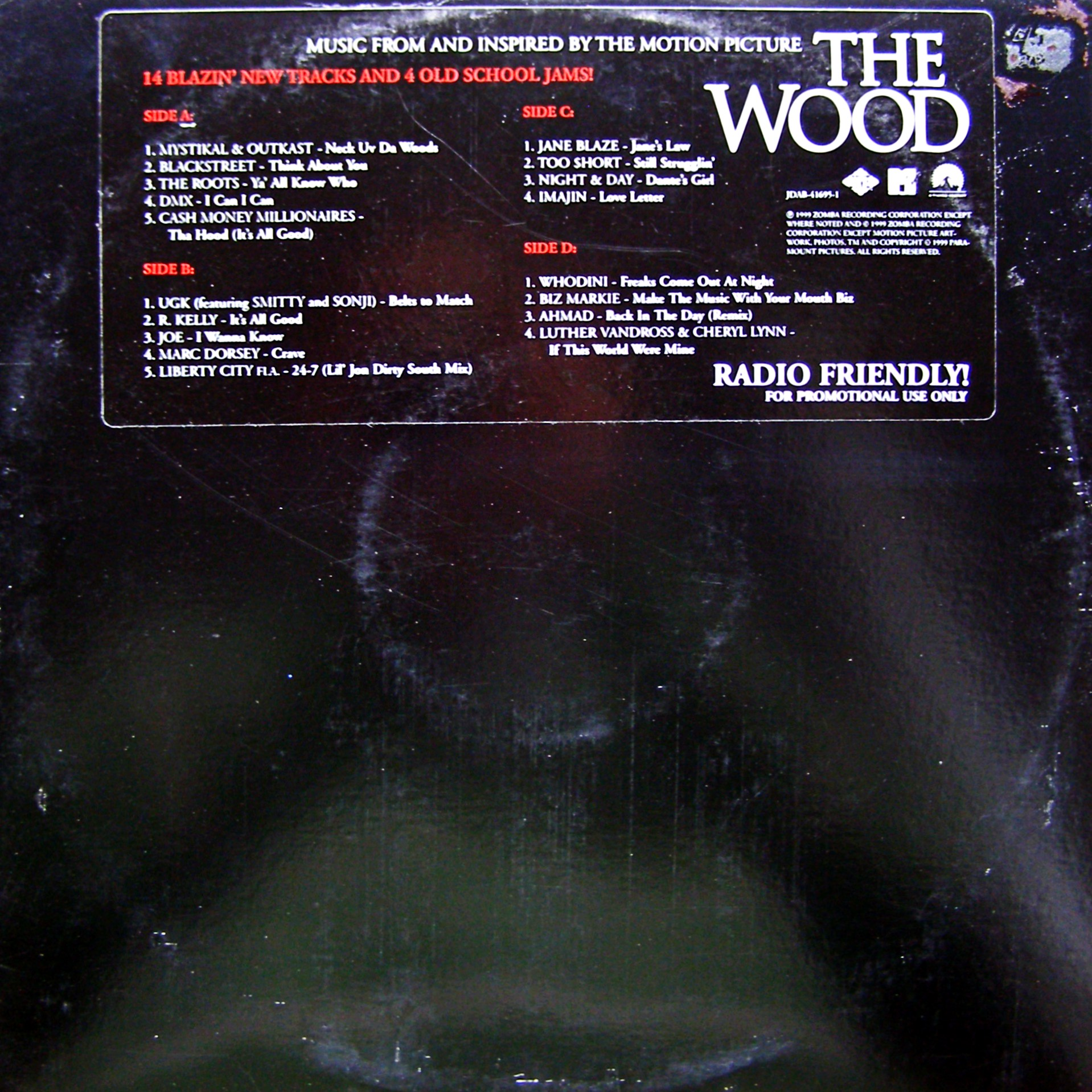 2xLP Various ‎– Music From And Inspired By The Motion Picture The Wood