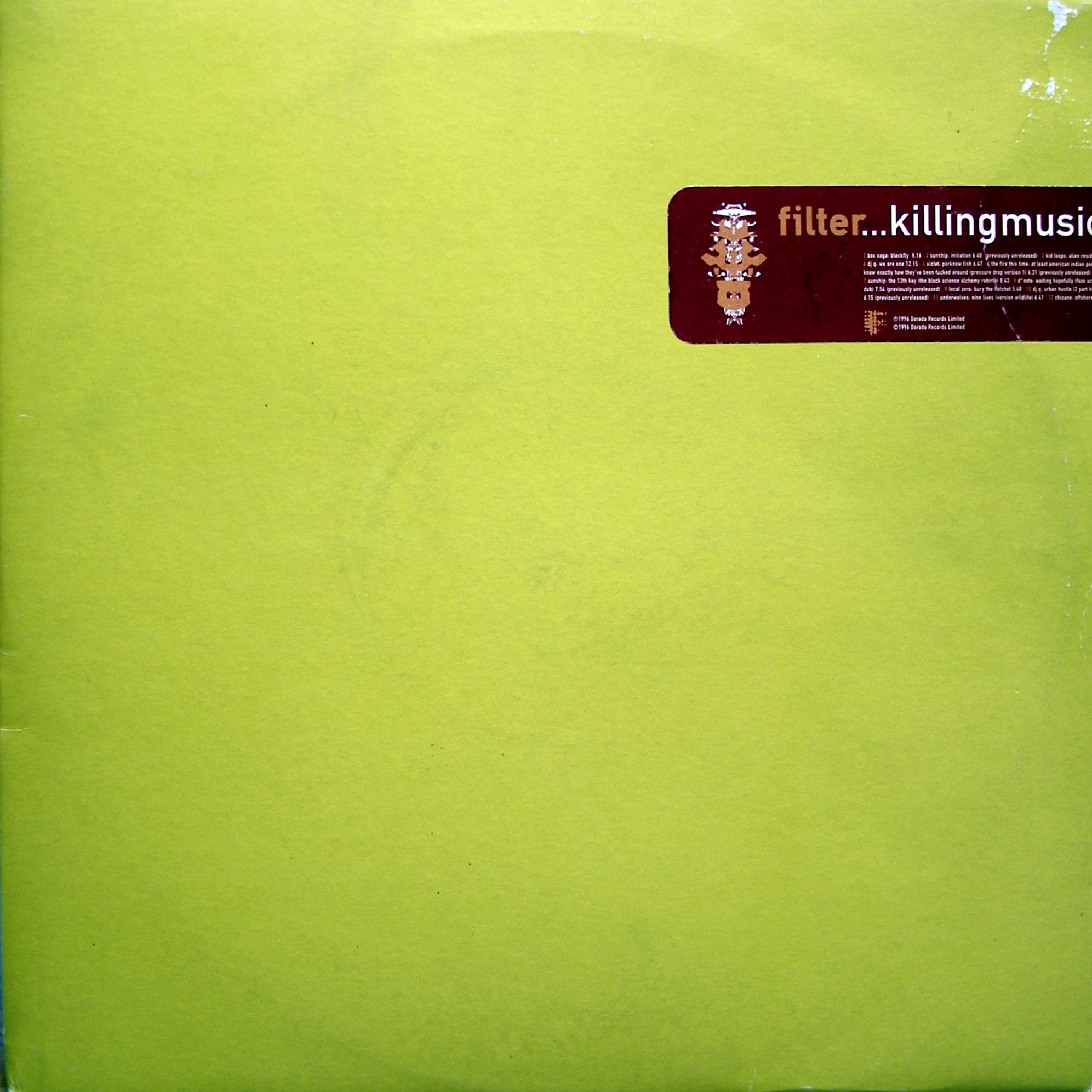 "2x12"" Various ‎– Filter...Killing Music"