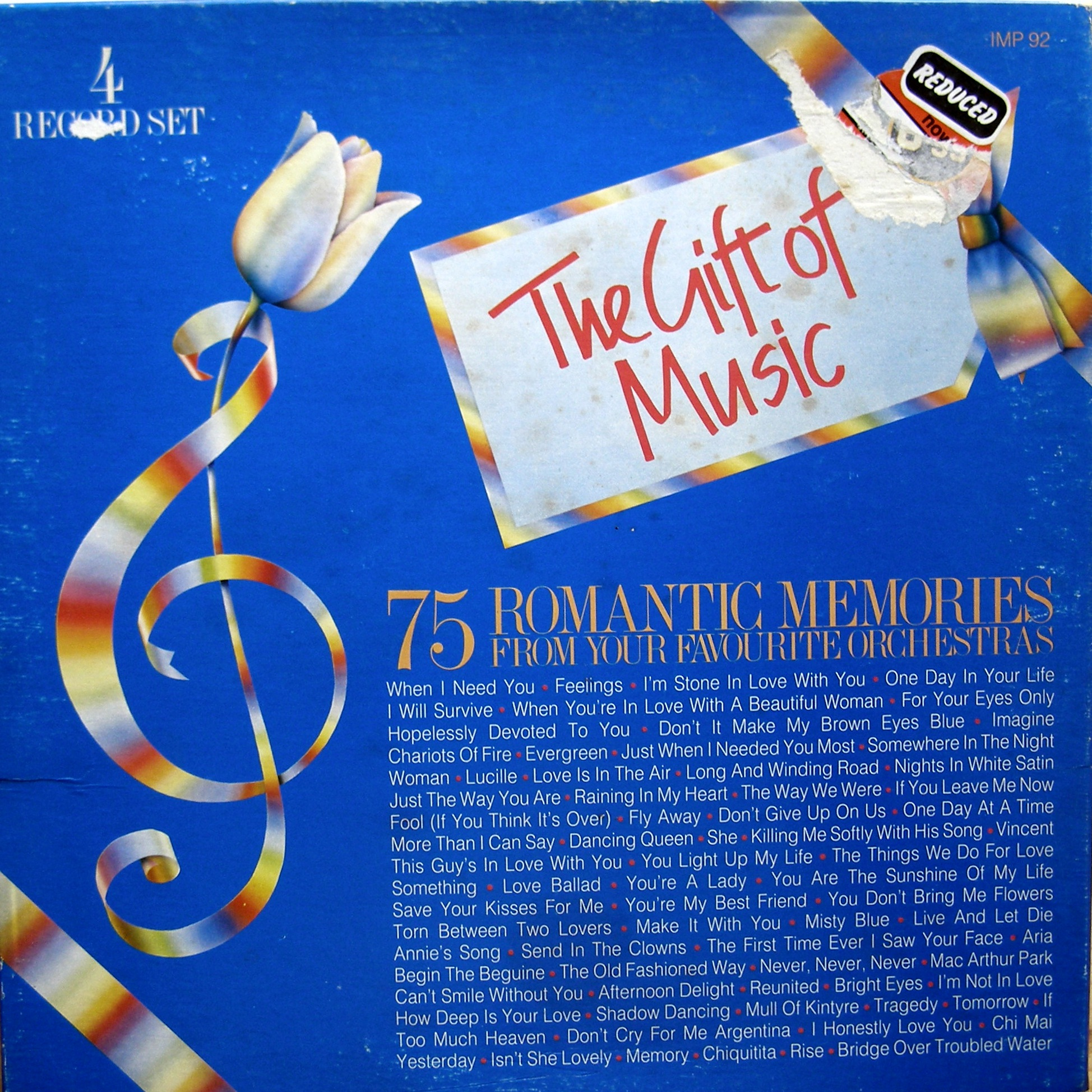 4LP BOX - The Gift Of Music: 75 Romantic Memories From Your Favourite Orchestras