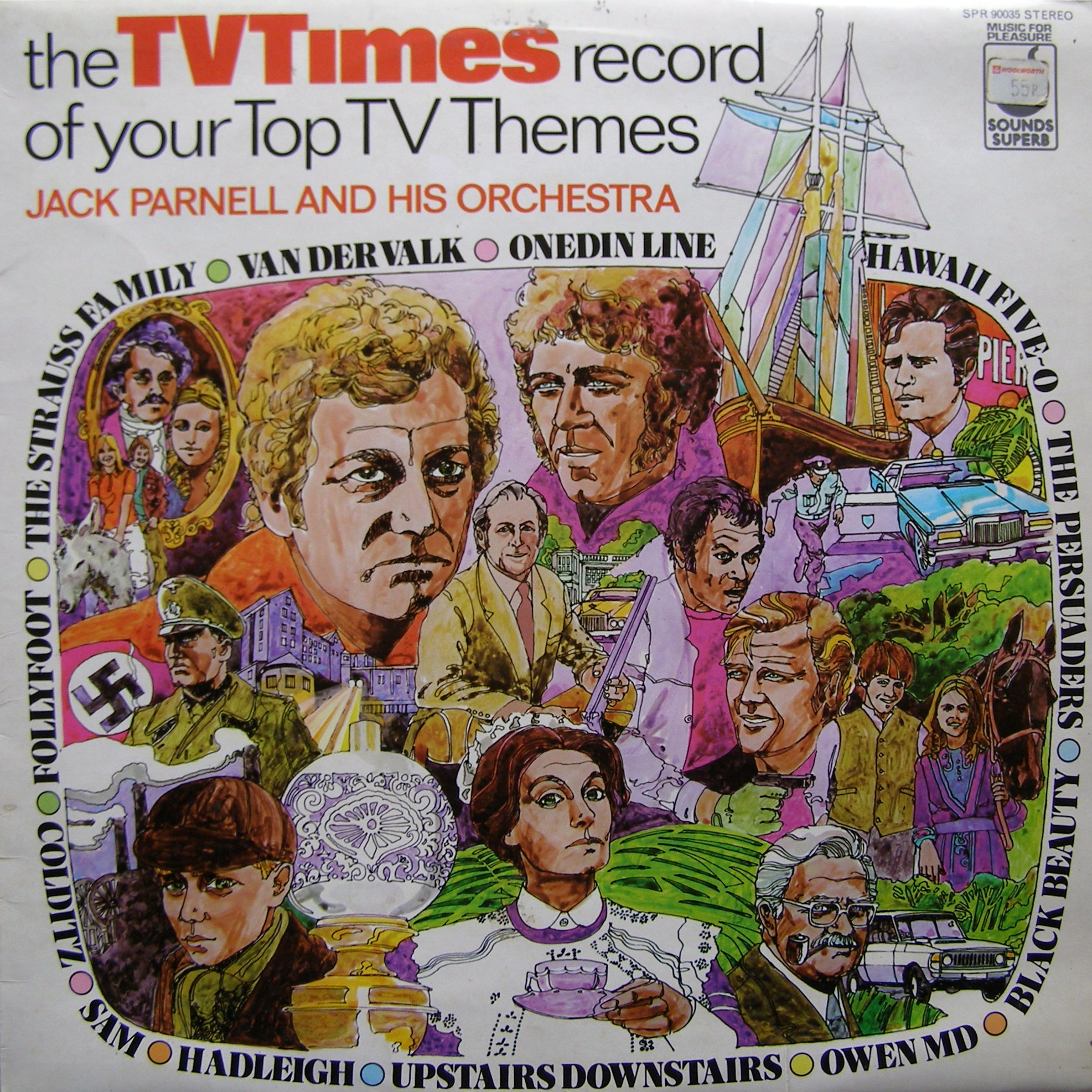 LP Jack Parnell And His Orchestra ‎– The TV Times Record Of Your Top TV Themes