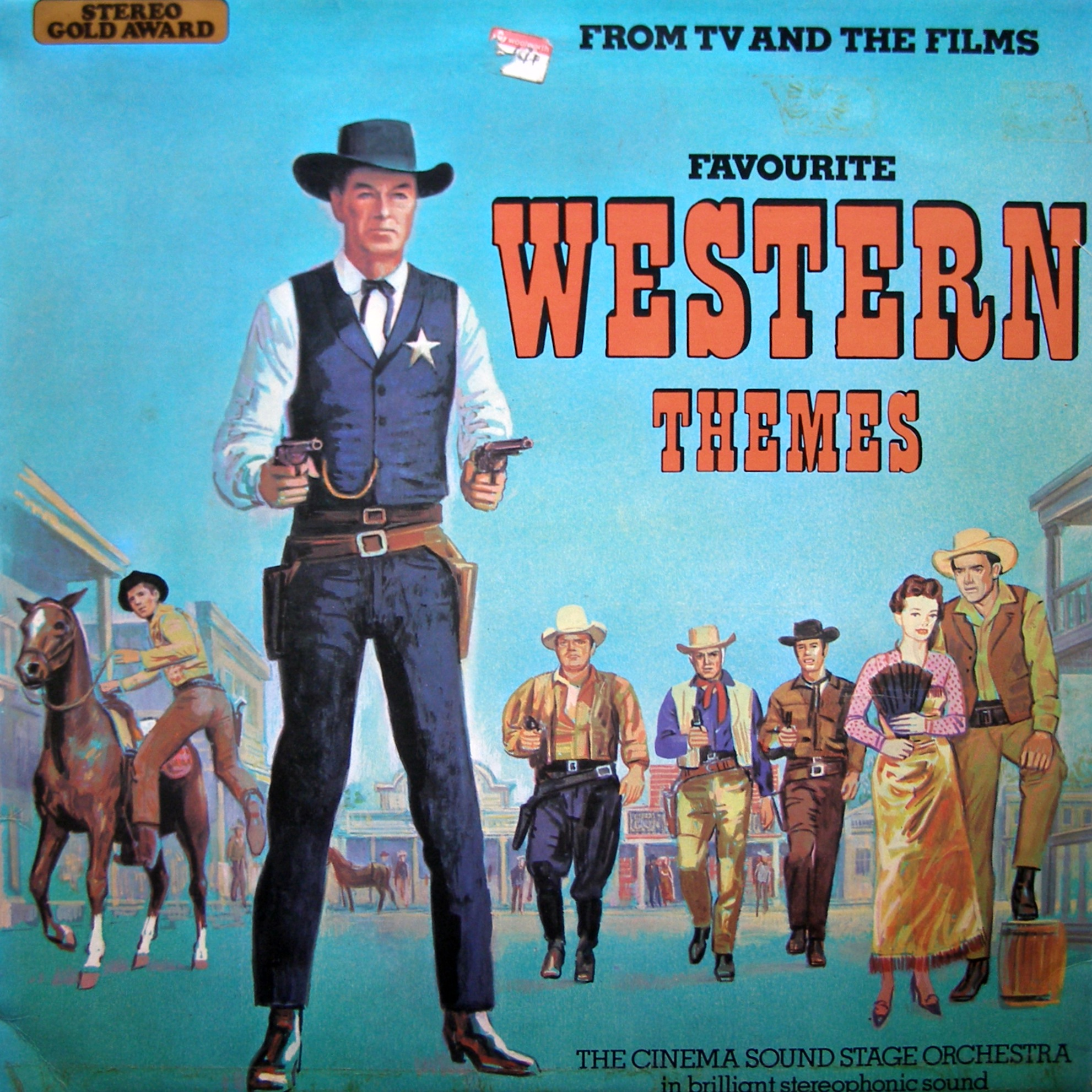 LP The Cinema Sound Stage Orchestra ‎– Favourite TV And Film Western Themes