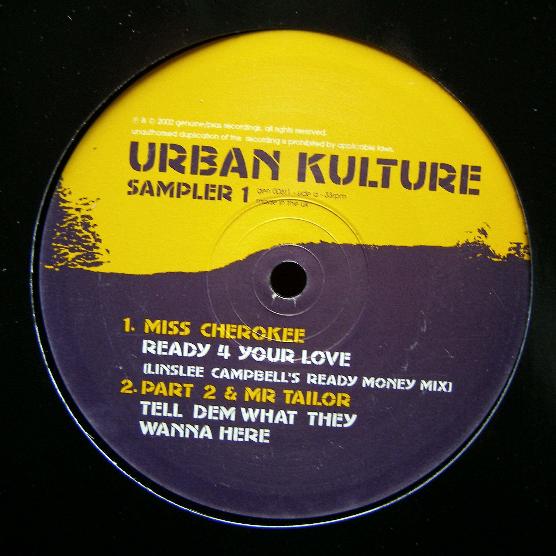 "12"" Various ‎– Urban Kulture Sampler 1"