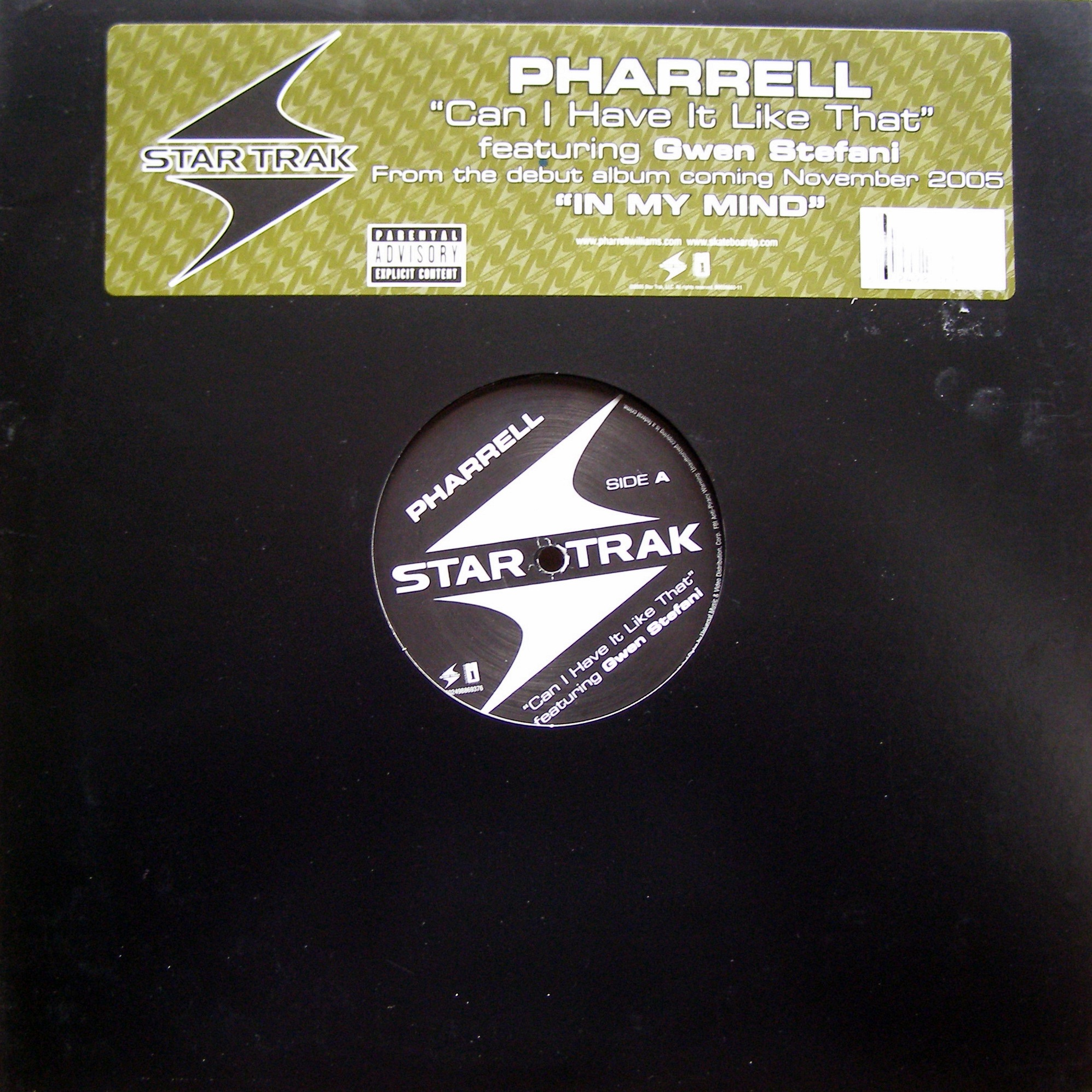 "12"" Pharrell feat. Gwen Stefani ‎– Can I Have It Like That"