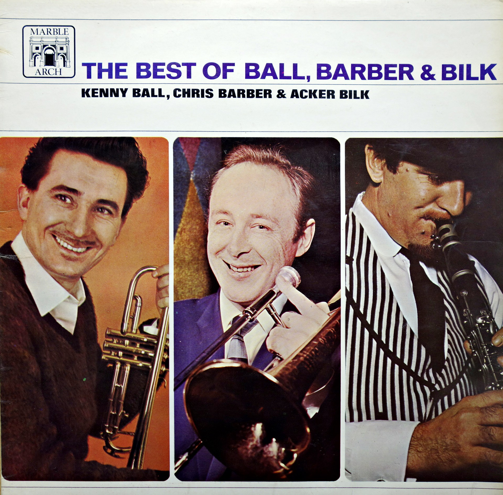 LP Kenny Ball, Chris Barber & Acker Bilk ‎– The Best Of Ball, Barber & Bilk