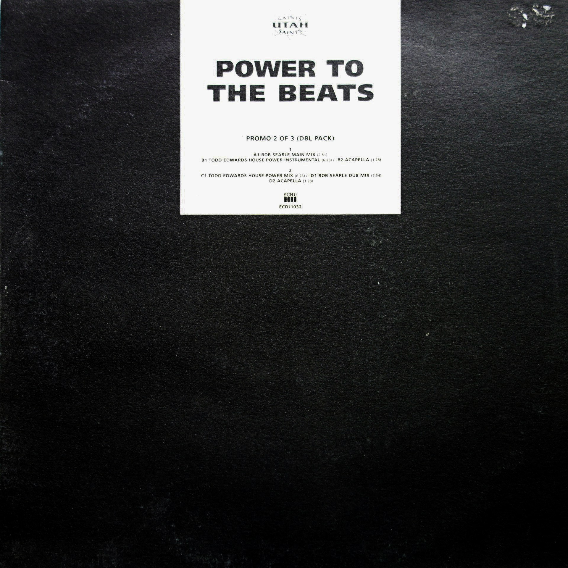 "12"" Utah Saints ‎– Power To The Beats"