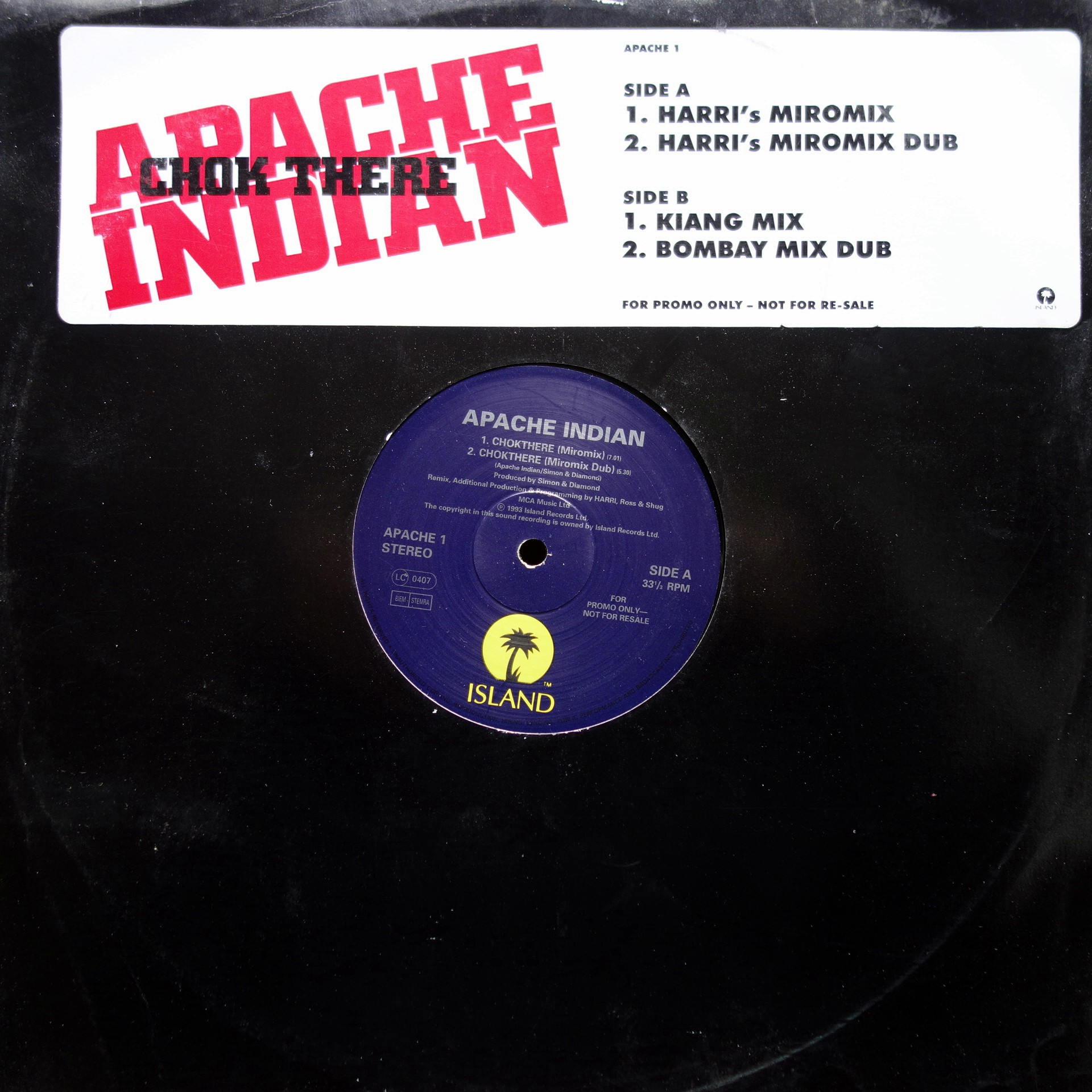 "12"" Apache Indian ‎– Chok There"