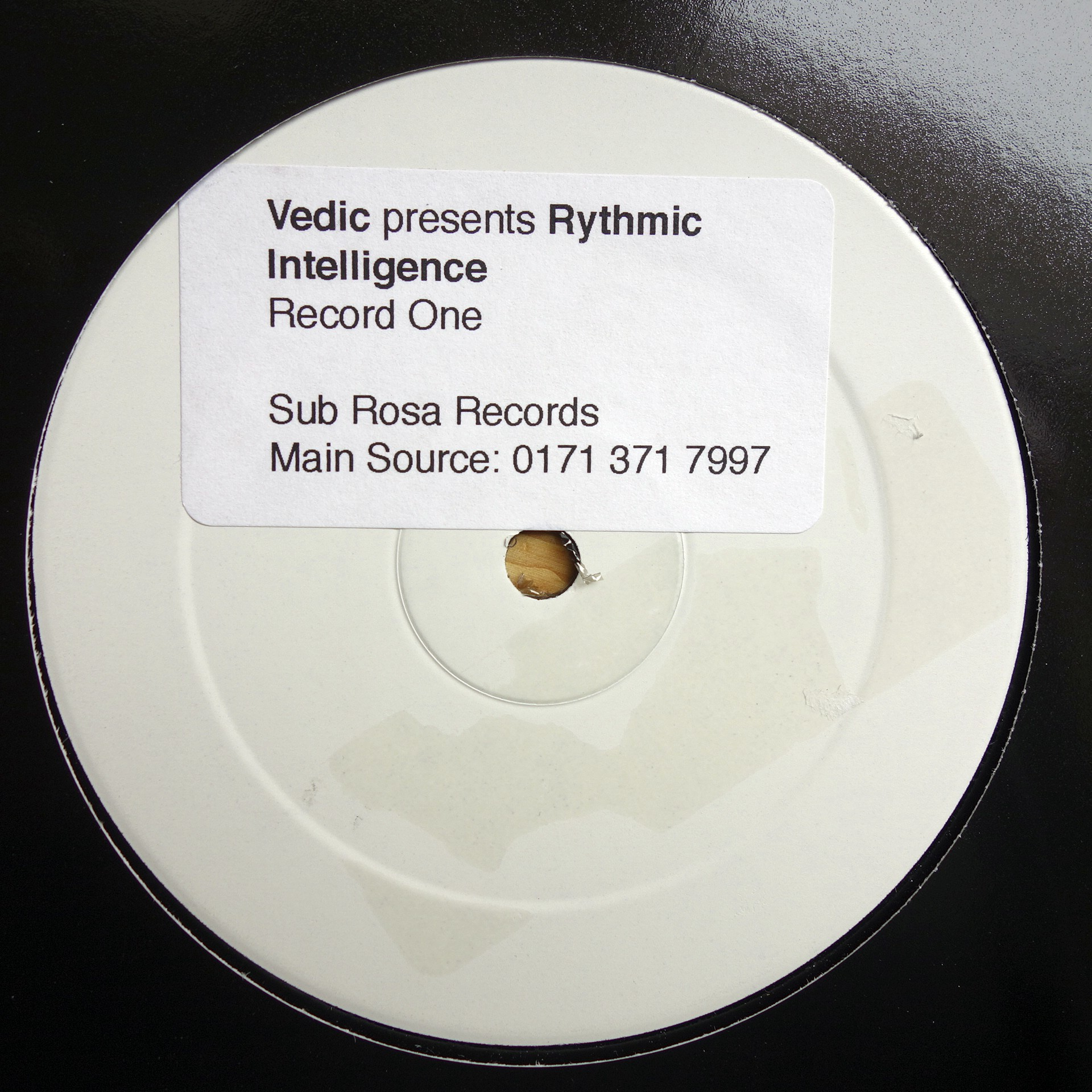 "2x12"" Vedic ‎– Presents Rhythmic Intelligence"