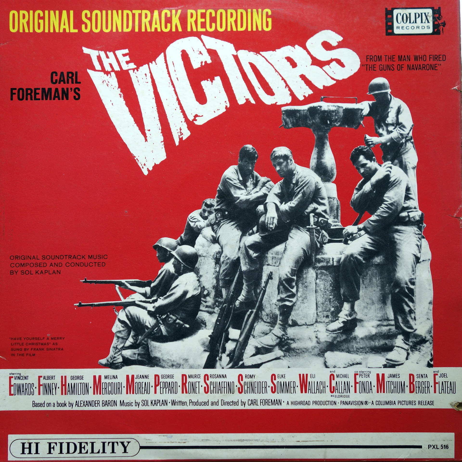 LP Sol Kaplan ‎– The Victors - Original Soundtrack Recording