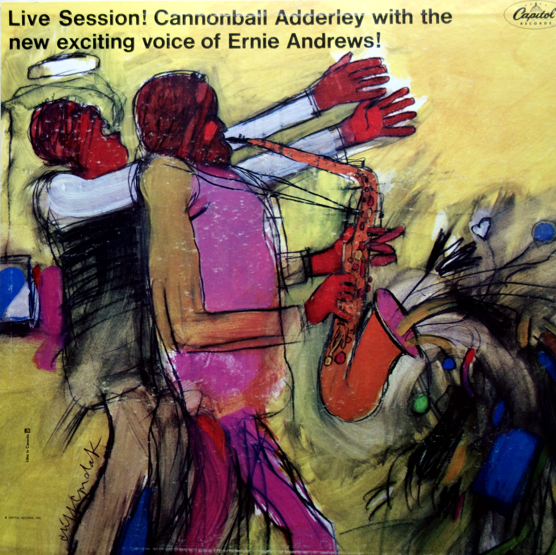 LP Cannonball Adderley / Ernie Andrews ‎– Live Session!