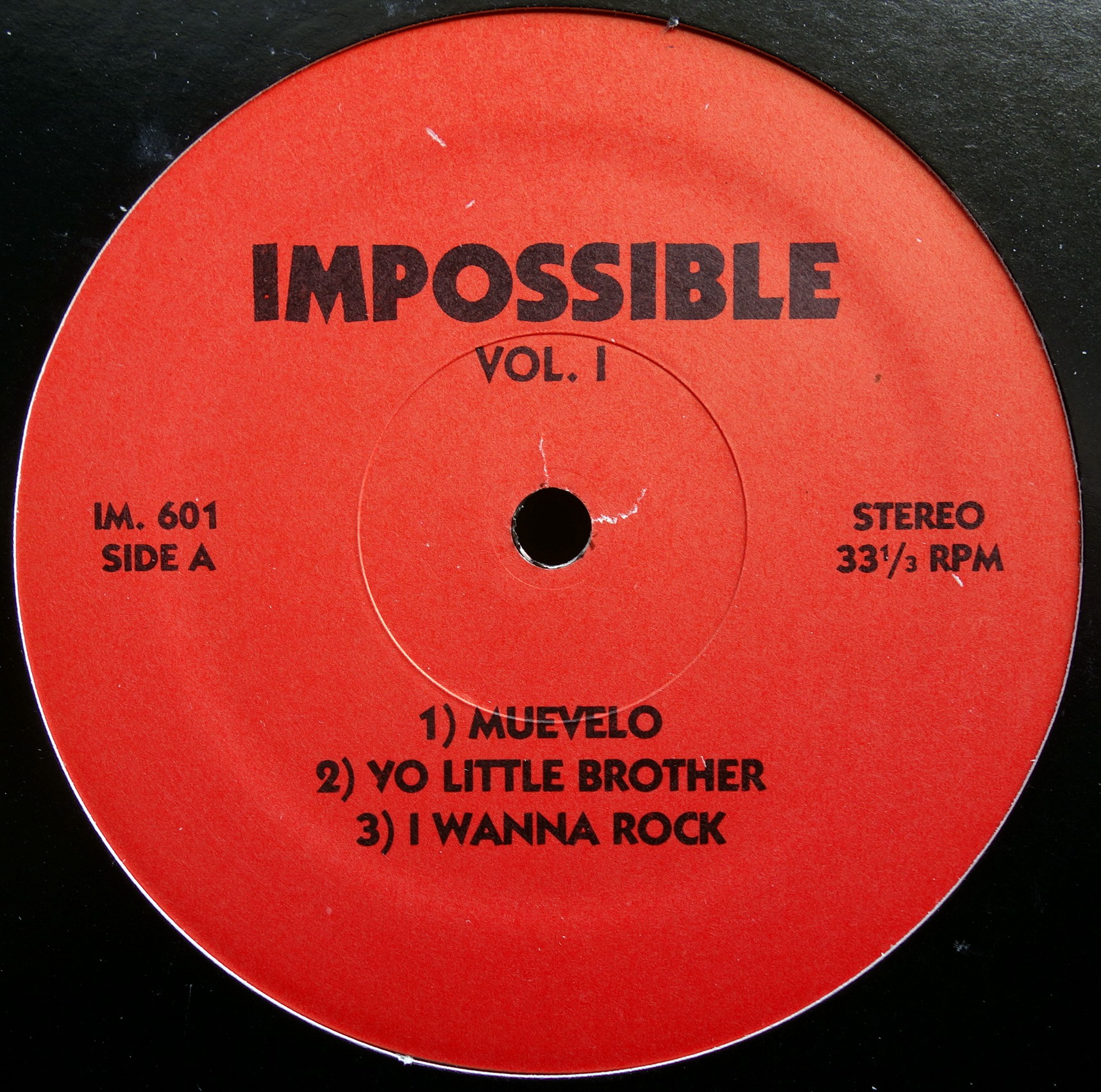 "12"" Various ‎– Impossible Vol. 1"