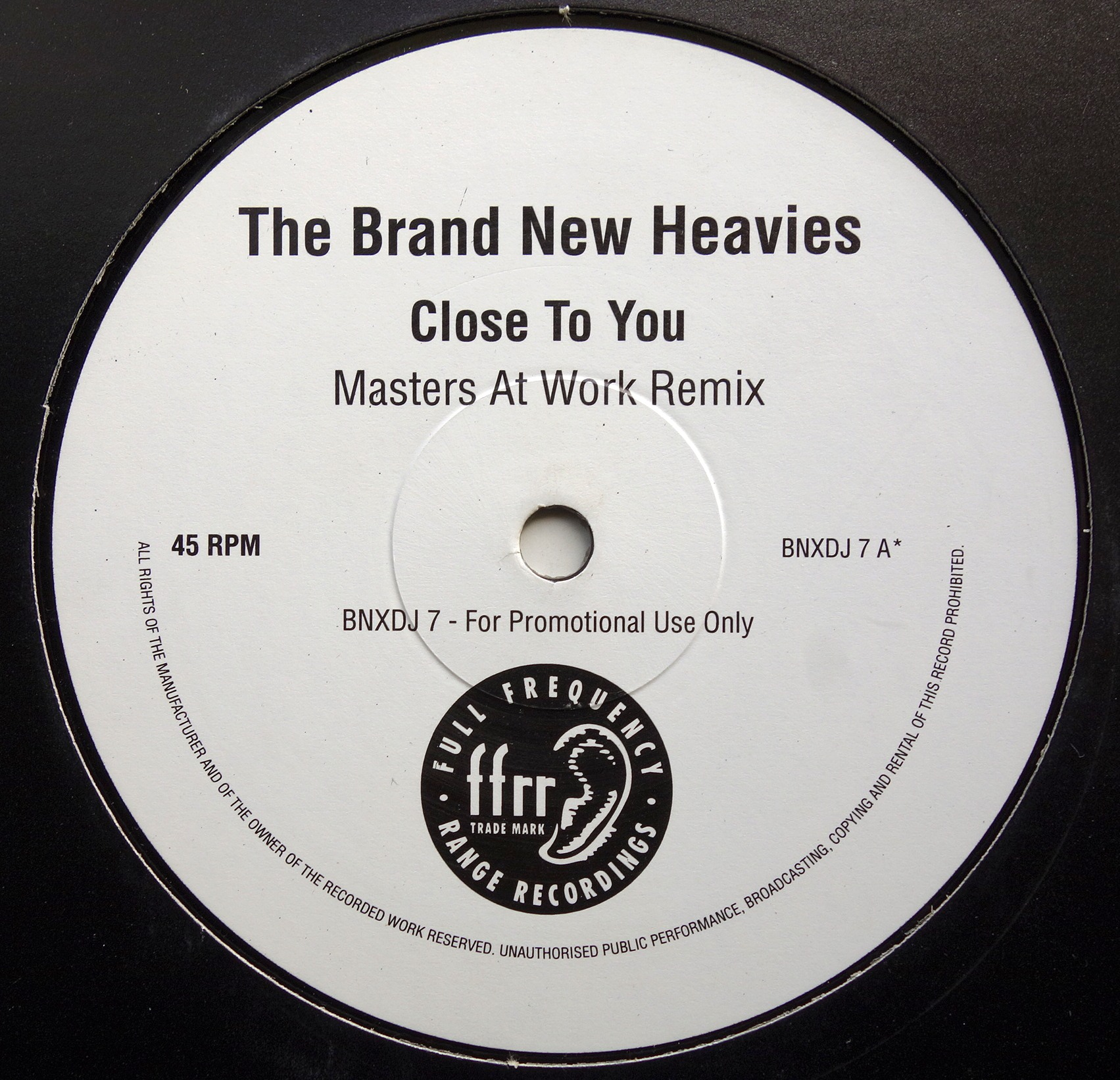 "2x12"" The Brand New Heavies ‎– Close To You (Masters At Work Remixes)"