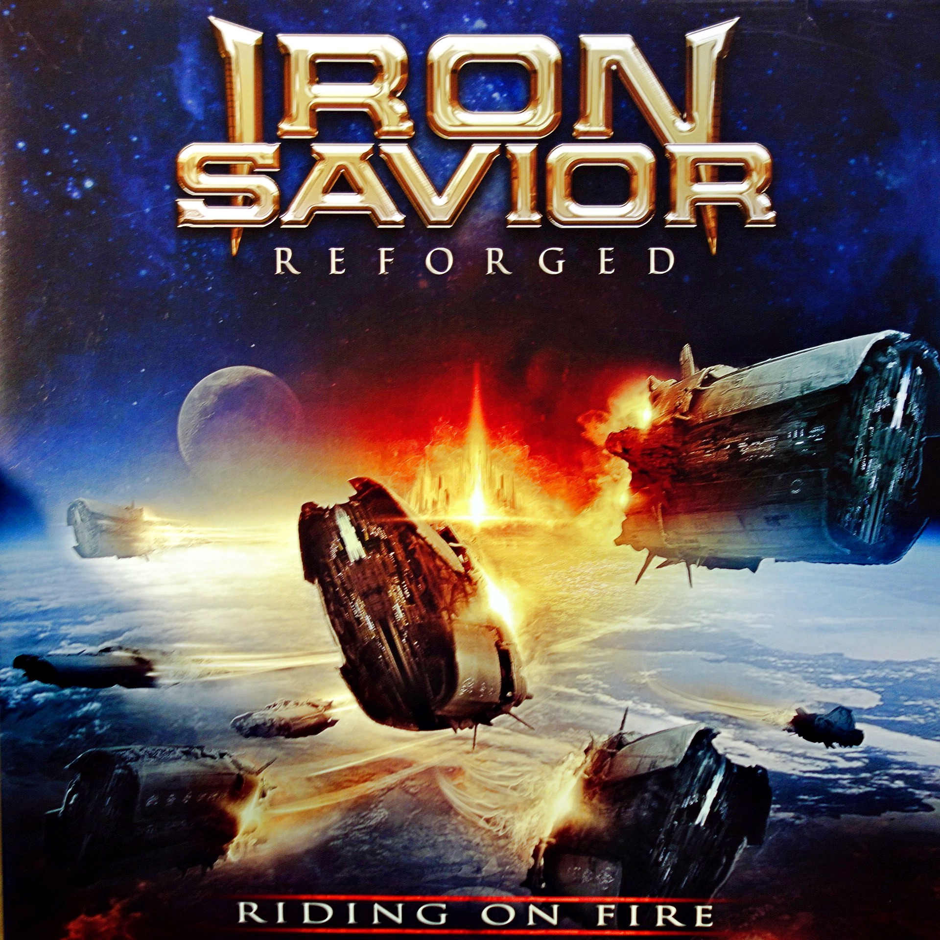 2xLP Iron Savior ‎– Reforged (Riding On Fire)