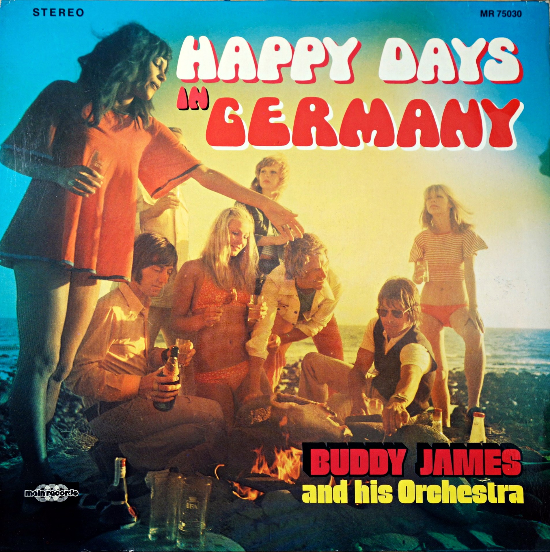LP Buddy James And His Orchestra ‎– Happy Days In Germany