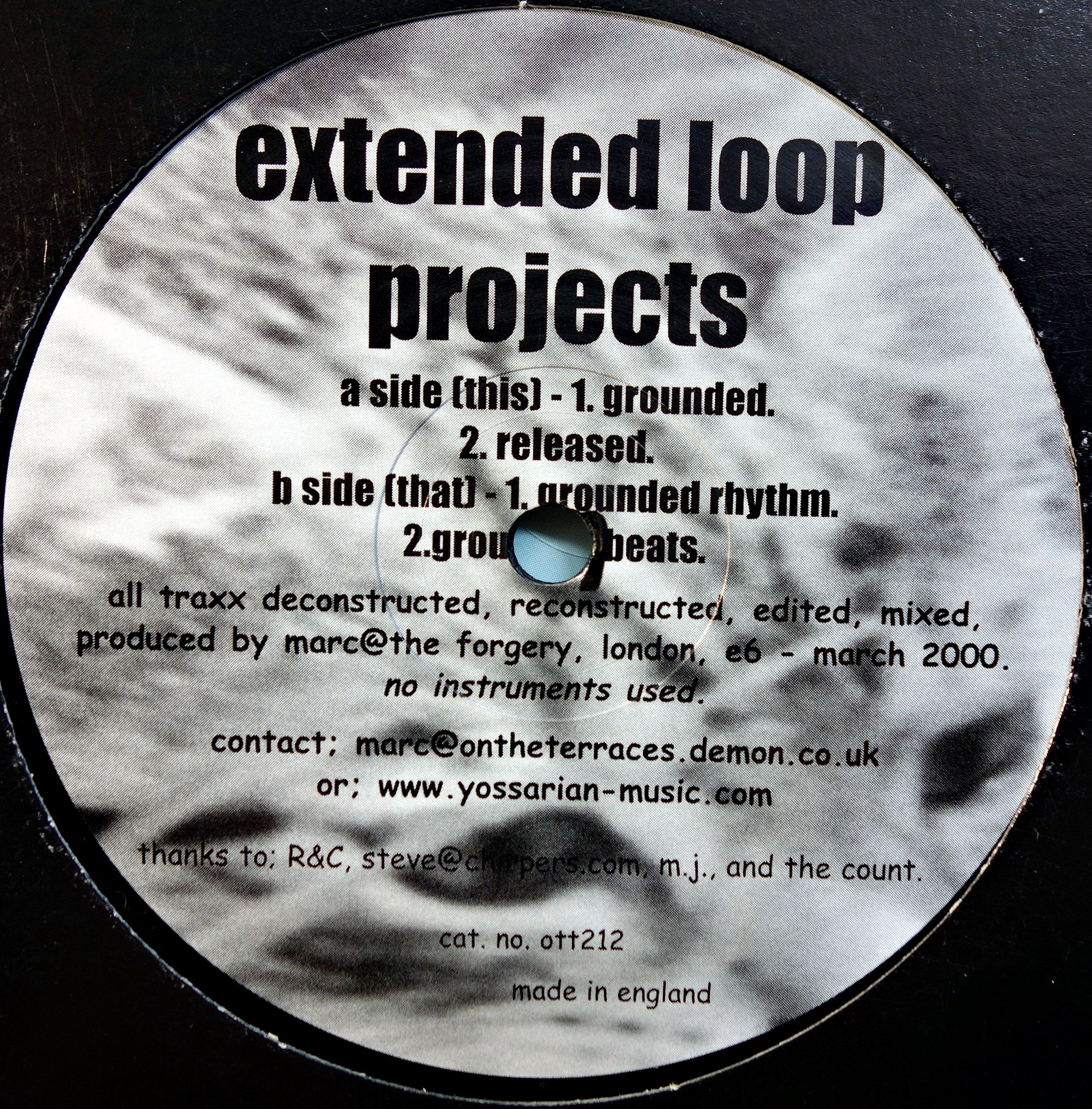 "12"" Extended Loop Projects ‎– EP"