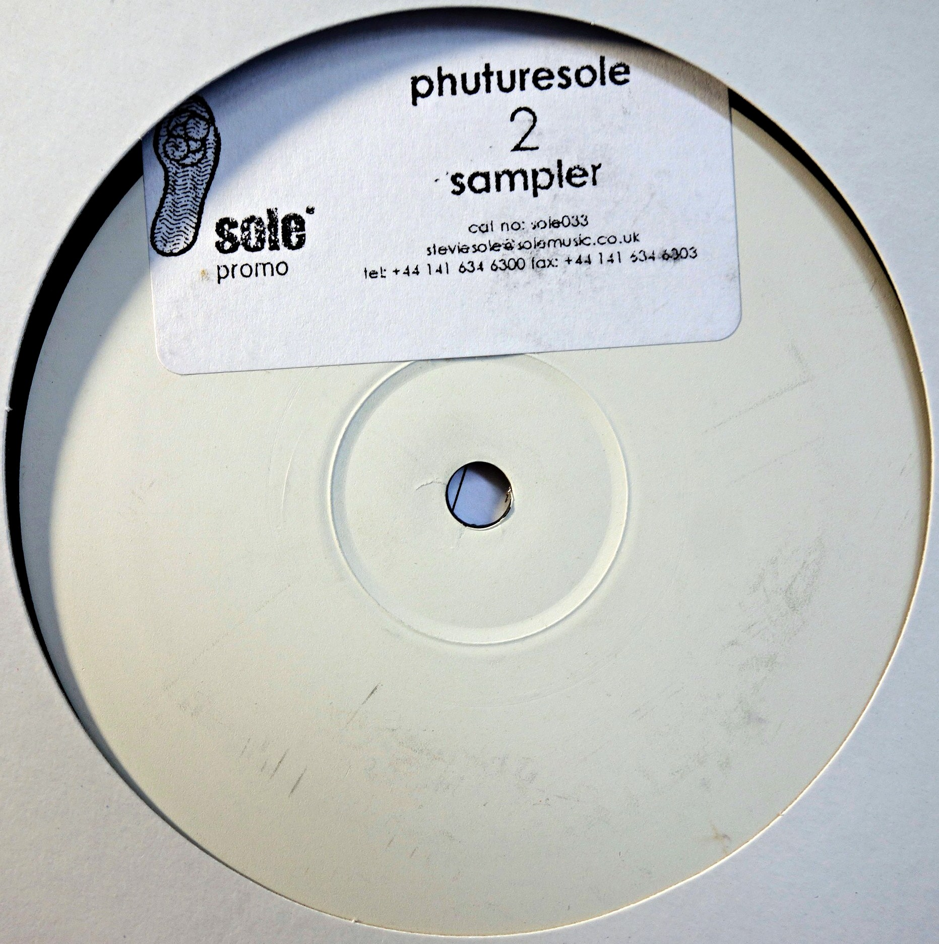 "12"" Various ‎– Sole Music Presents Phuturesole NI Album Sampler"