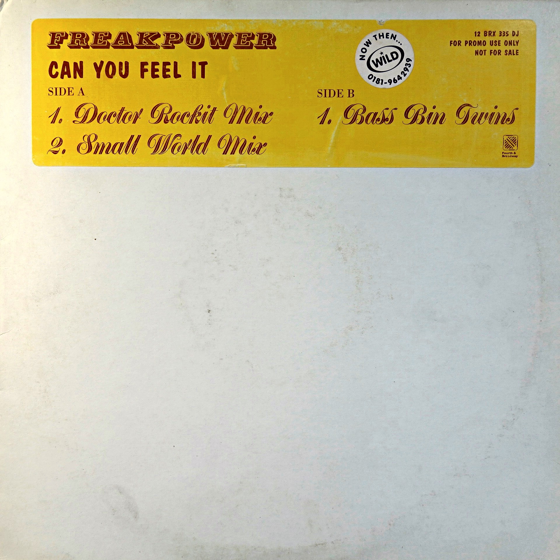"12"" Freak Power ‎– Can You Feel It"
