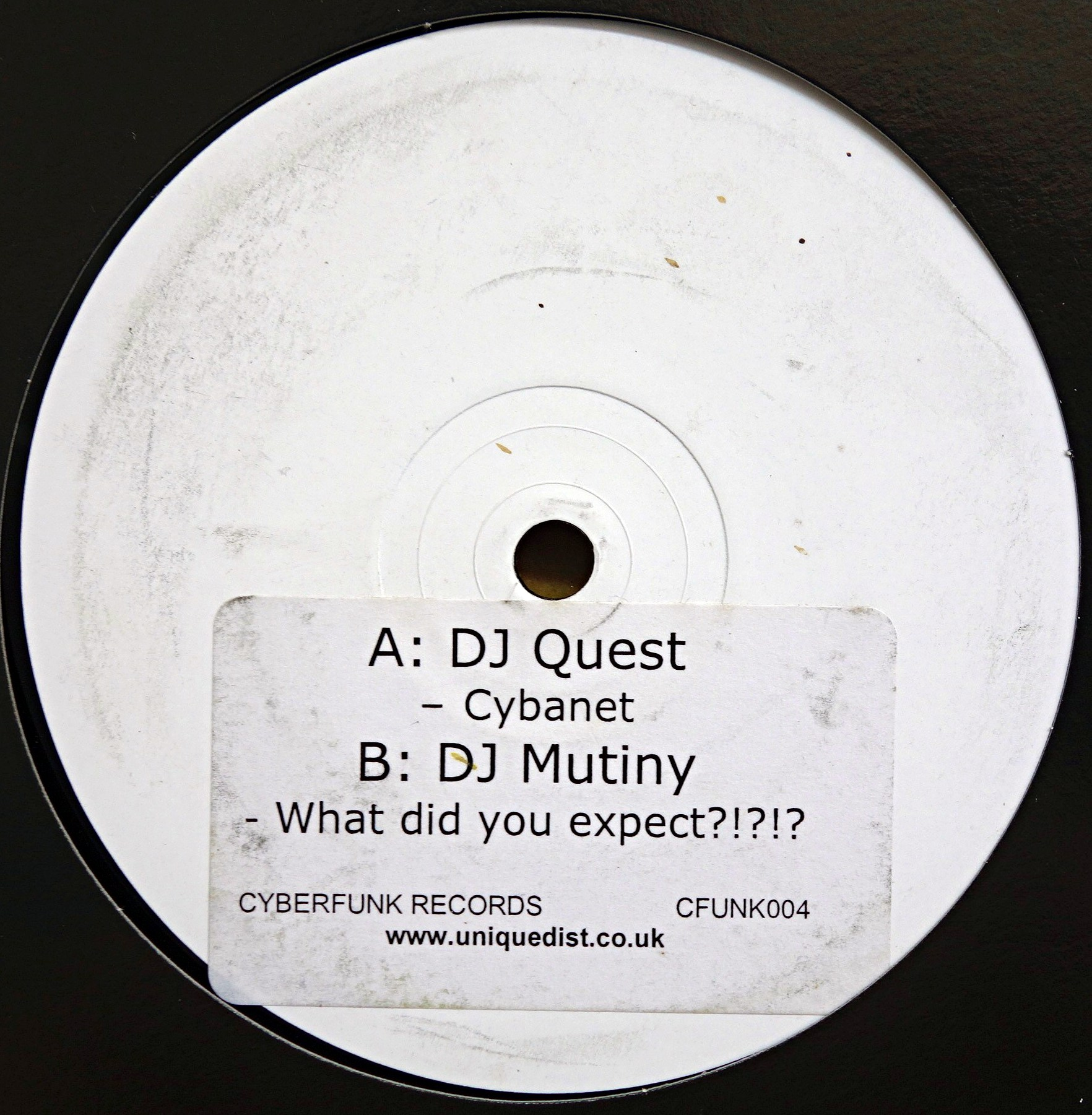 "12"" DJ Quest / DJ Mutiny ‎– Cybanet / What Did You Expect?"