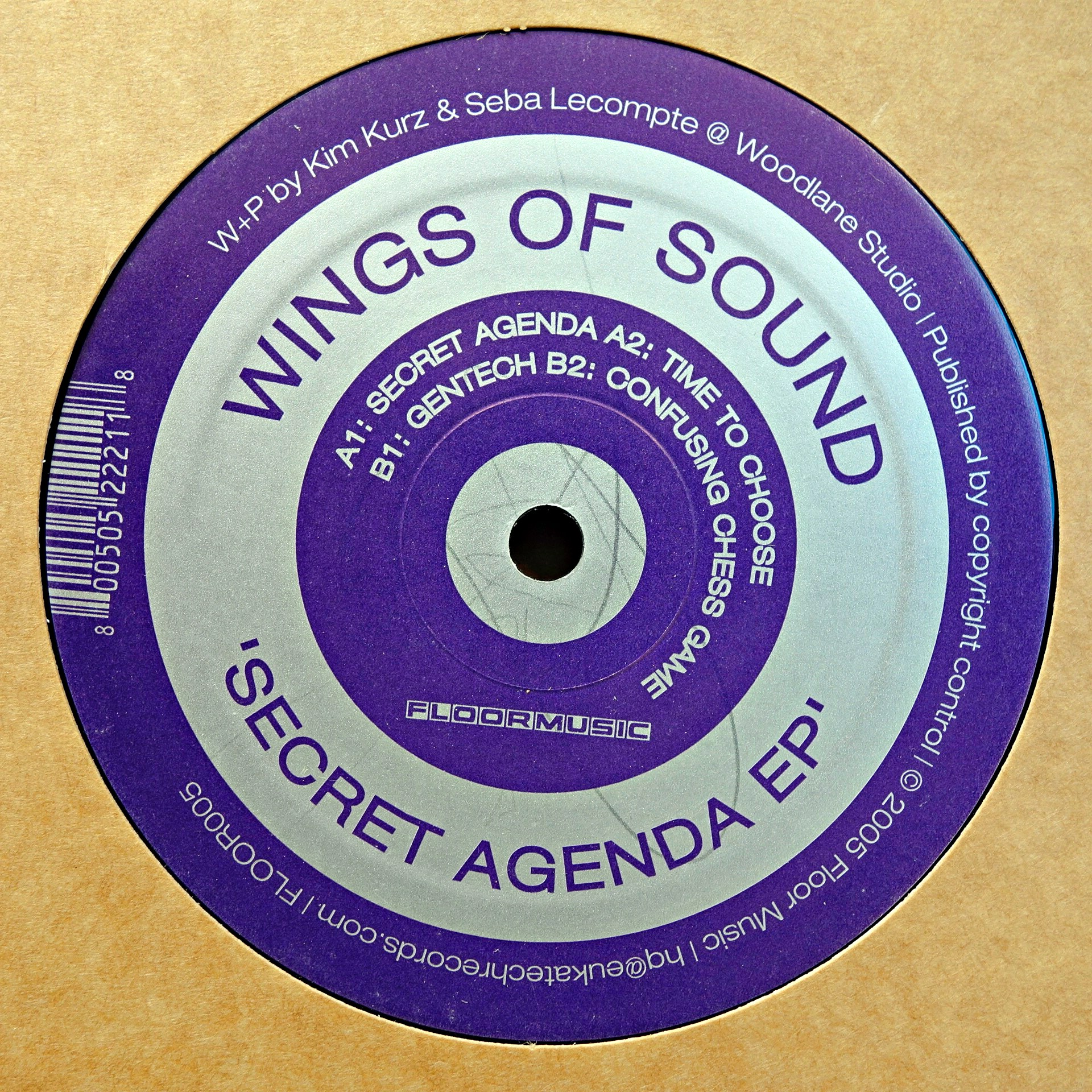 "12"" Wings Of Sound ‎– Secret Agenda EP"