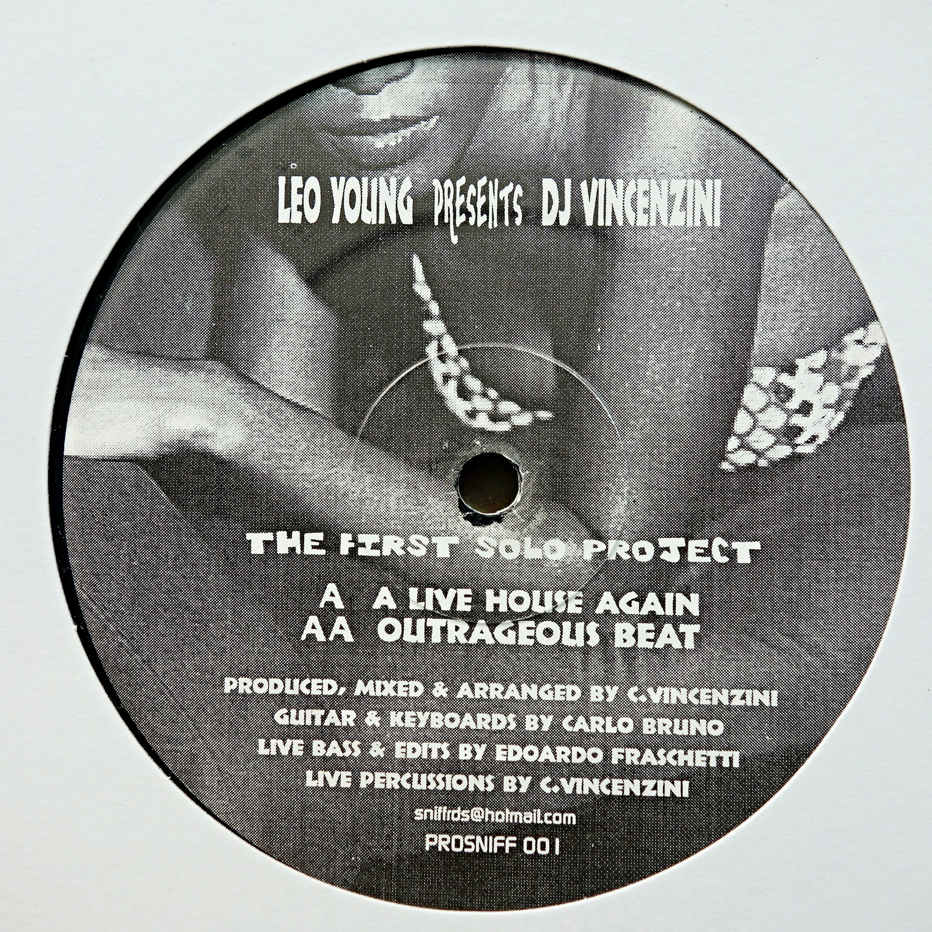 "12"" Leo Young Presents Dj Vincenzini ‎– The First Solo Project"