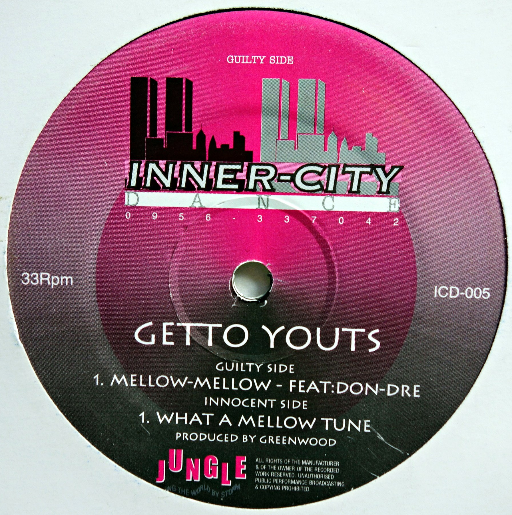 "12"" Getto Youts ‎– Mellow-Mellow / What A Mellow Tune"