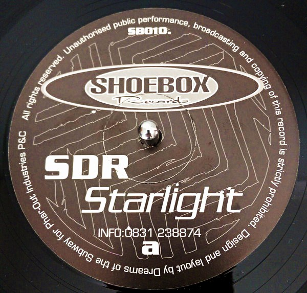 "12"" SDR / The Riddler ‎– Starlight / Jazzed / Electronic Moods"