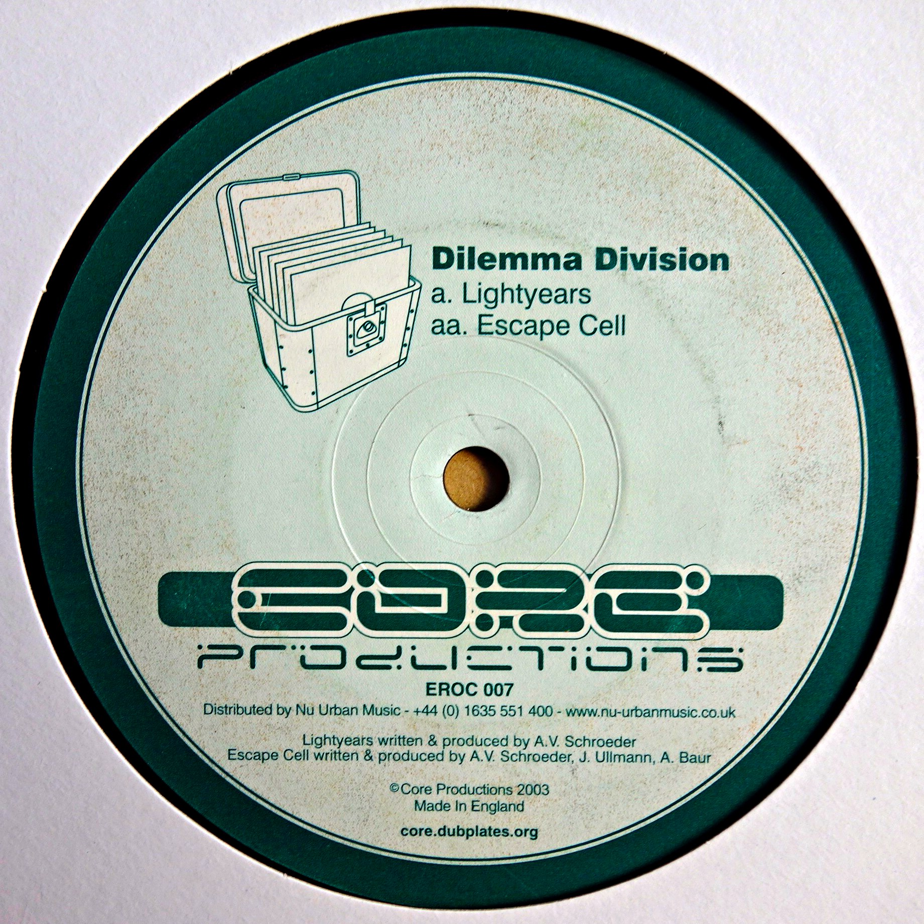 "12"" Dilemma Division ‎– Lightyears / Escape Cell"