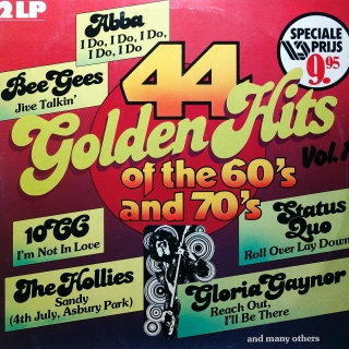 2xLP Various ‎– 44 Golden Hits Of The 60's And 70's Vol.1