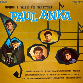 LP Paul Anka ‎– Songs I Wish I'd Written