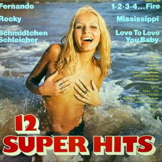 LP Unknown Artist ‎– 12 Super Hits