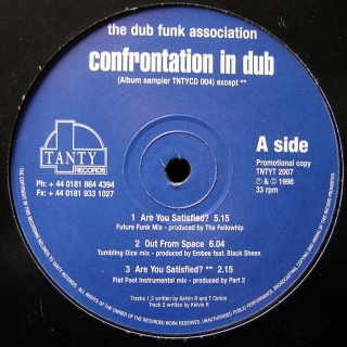 "12"" The Dub Funk Association ‎– Confrontation In Dub"