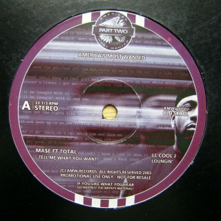 "12"" Various ‎– America's Most Wanted Part Two"