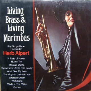 LP Living Brass & Living Marimbas ‎– Play Songs Made Famous By Herb Alpert