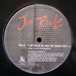 "12"" Ja Rule Feat. Christina Milian ‎– Between Me And You"
