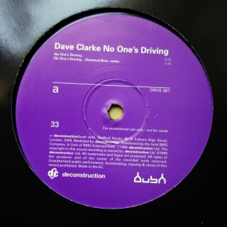 "12"" Dave Clarke ‎– No One's Driving"