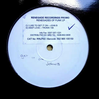 "12"" Various ‎– Renegades Of Funk LP"