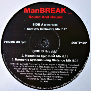 "2x12"" Manbreak ‎– Round And Round"