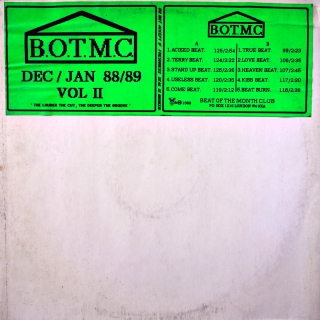 "12"" Beat Of The Month Club ‎– B.O.T.M.C. Dec / Jan 88 / 89 Vol II"