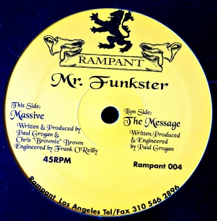 "12"" Mr. Funkster ‎– The Message"