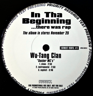 "12"" Wu-Tang Clan / Too $hort ‎– Sucker MC's / I Need A Freak"