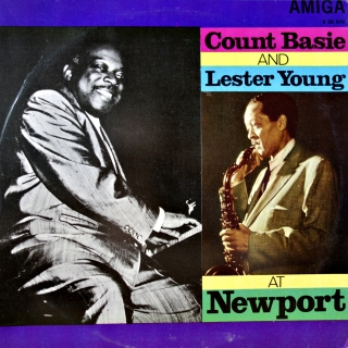 LP Count Basie and Lester Young ‎– At Newport