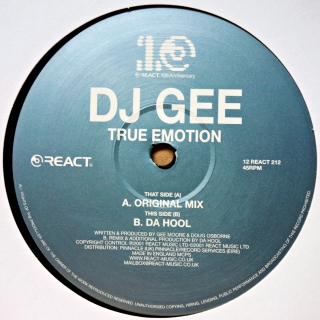 "12"" DJ Gee ‎– True Emotion"