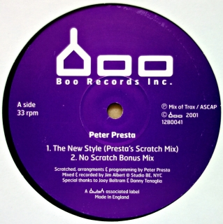 "12"" Peter Presta ‎– The New Style EP"