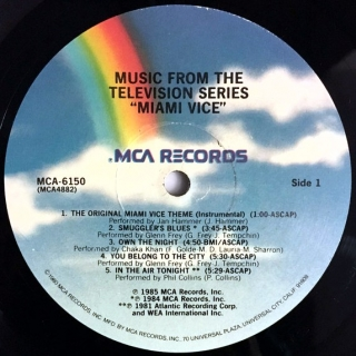 LP Various ‎– Miami Vice - Music From The Television Series