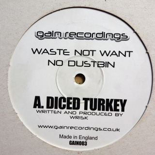 "12"" Wrisk / Mu Ma ‎– Diced Turkey / Disconnected Funk"